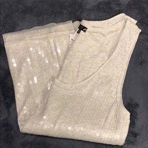 JCrew knit sequin tank